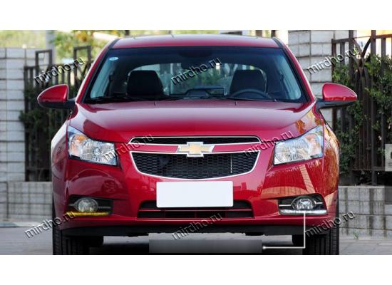 ДХО для Chevrolet Cruze с отверстием под ПТФ