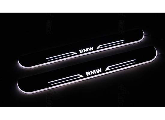 Накладки на пороги LED для BMW 3 series F30 (фото)