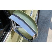 Хромированные козырьки на зеркала для Ford Kuga 2 Вариант 2 (фото)