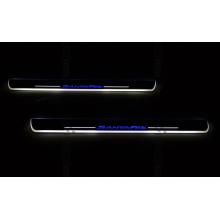 Накладки на пороги LED для Hyundai Santa Fe 13-15 Вариант 2 (фото)