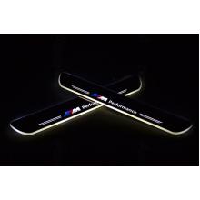 Накладки на пороги LED для BMW Х3 11-14 (фото)