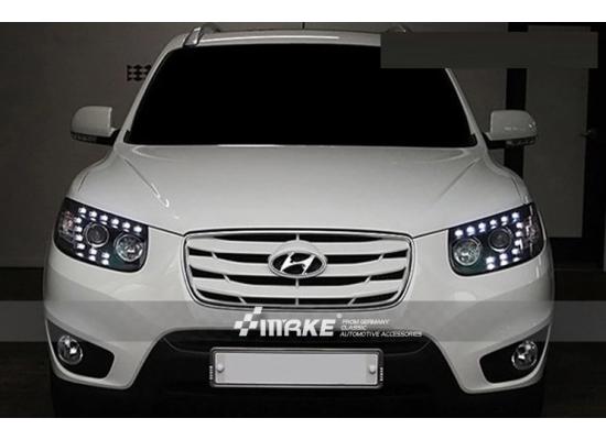 Фары для Hyundai Santa Fe 2 в стиле Q7 2006-11 (фото)