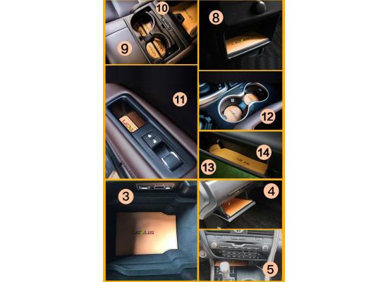 Комплект кожаных ковриков для Lexus RX 2015-по н.в.