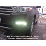 ДХО для Toyota Highlander 2 Рестаилинг 2010-13 Хром
