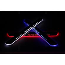 Накладки на пороги LED для Toyota RAV 4 13-15 (фото)