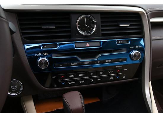 Хромированная накладка на магитолу для Lexus RX 2015-по н.в. (фото)