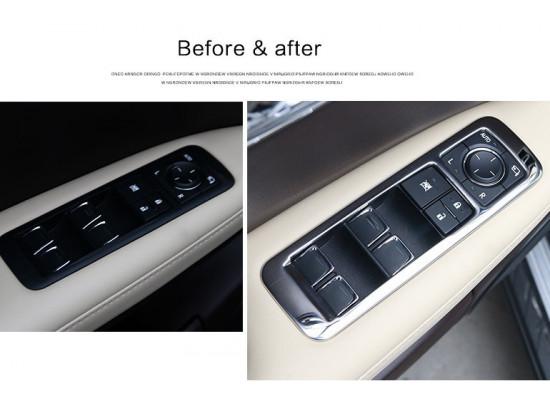 Накладки на стеклоподъемники для Lexus RX 2015-по н.в.