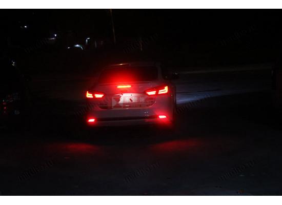 Задние ДХО + стоп сигналы + поротники в бампер для Ford Focus 3 (фото)