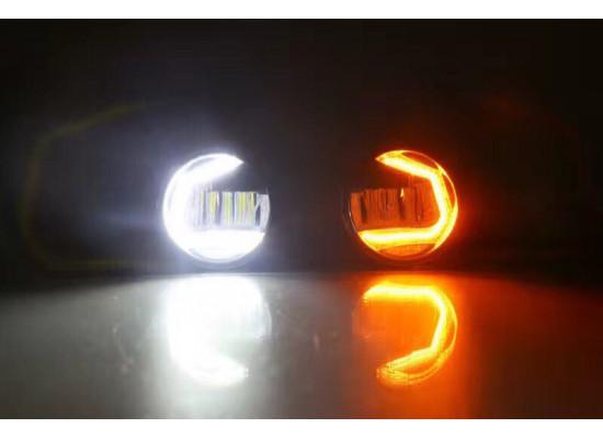 Светодиодные противотуманные фары с ДХО С-образные (фото)