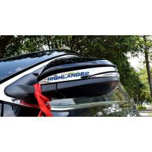 Хромированные накладки на зеркала для Toyota Highlander 3 2013-по н.в. (фото)