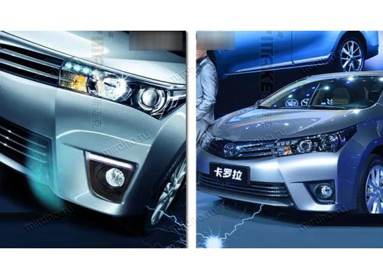 ДХО для Toyota Corolla 11 2013-16 Вариант 3