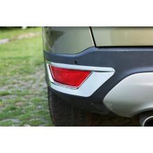 Хромированные накладки на задние противотуманки для Ford Kuga 2 2013-16 и Рестайлинг 17+ (фото)