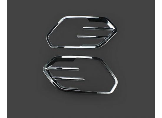 Хромированные накладки на задние противотуманки для Ford Kuga 2 2013-16 и Рестайлинг 17+