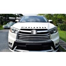 Хромированный логотип на капот для Toyota Highlander 3 2013-по н.в. (фото)