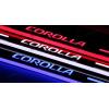 Накладки на пороги LED для Toyota Corolla с 2014-