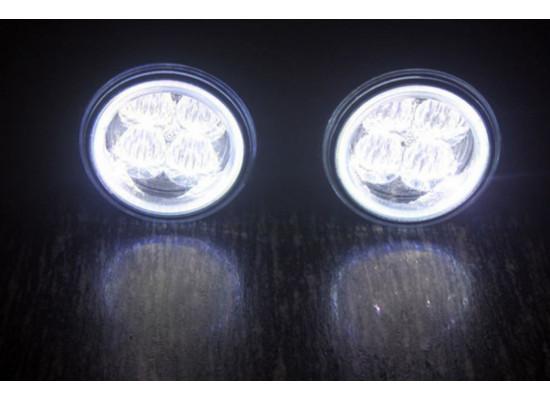 Мощные светодиодные ПТФ с ДХО кольцо (фото)