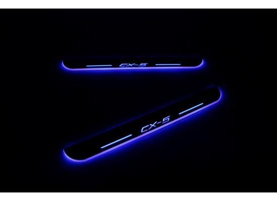 Накладки на пороги LED для Mazda CX 5 (фото)