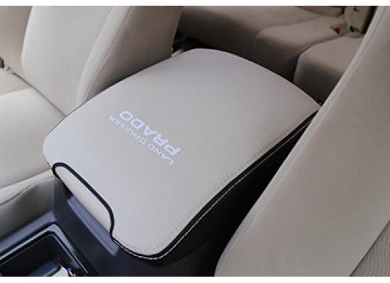 Кожаный чехол на подлокотник для Toyota Land Cruiser Prado 2009- по н.в. (фото)