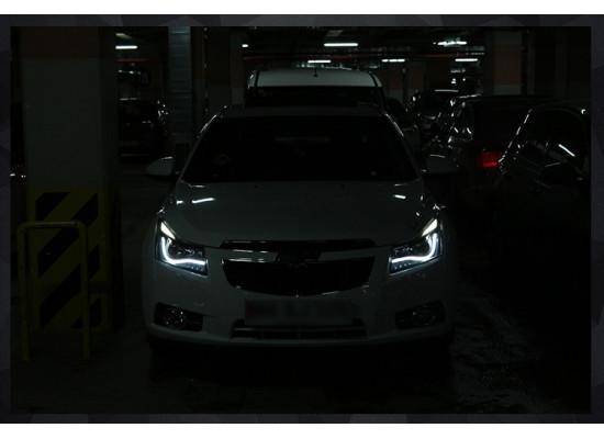 Фары для Chevrolet Cruze I и Рестайлинг 2009-15 Вариант 1 (фото)