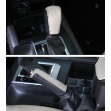 Чехол на КПП+ручник для Toyota Land Cruiser Prado Рестайлинг 2 2017-по н.в. (фото)