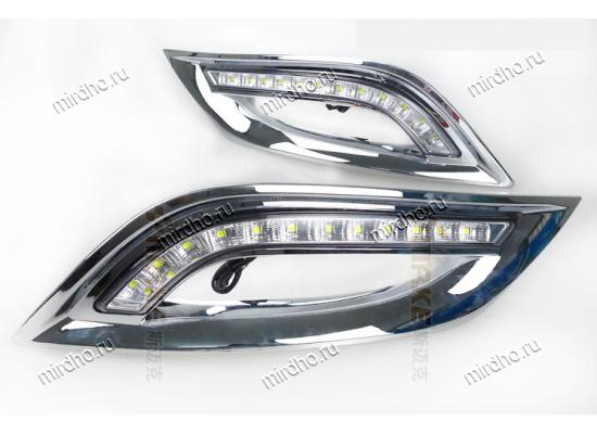 ДХО на Hyundai Sonata 8 Хром (фото)