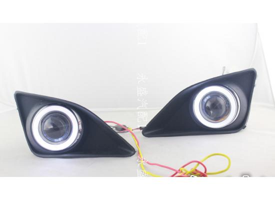 Противотуманные фары с ангельскими глазками для Toyota Corolla 2007-10 (фото)