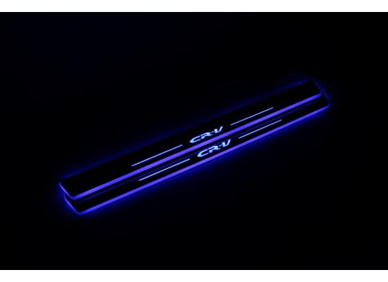 Накладки на пороги LED для Honda CRV (фото)