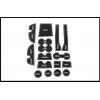 Комплект ковриков для Toyota Land Cruiser Prado Рестайлинг 2 2017- по н.в.