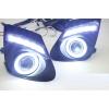 Противотуманные фары с ангельскими глазками для Toyota Corolla 2010-13 (фото)