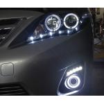 Противотуманные фары с ангельскими глазками для Toyota Corolla 2010-13