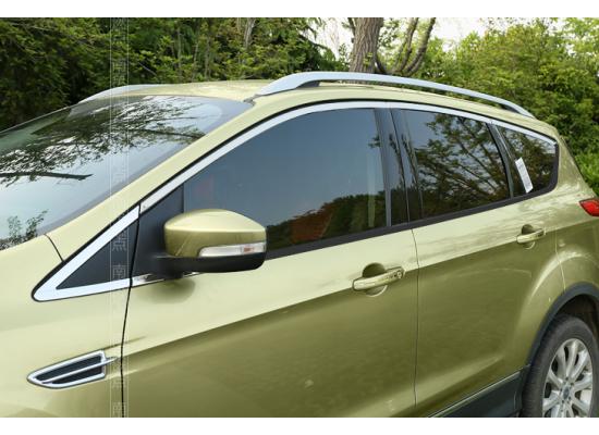 Хромированные накладки на окна для Ford Kuga 2 2012-16 (фото)