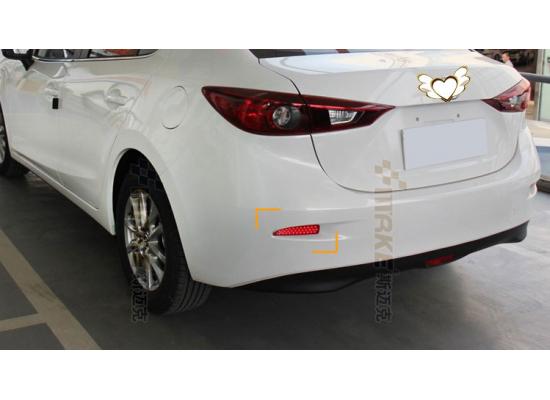 Задние габариты (ДХО) + доп. стоп сигналы + доп. поворотники Mazda 3 III седан 2013 - 2016. Вариант 2 (фото)