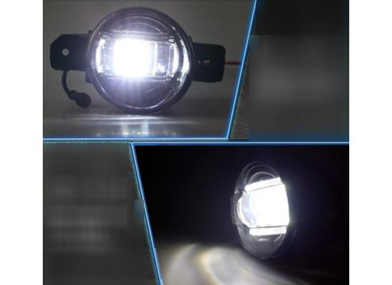 Светодиодные противотуманные фары с ДХО для Infiniti косое стекло (фото)
