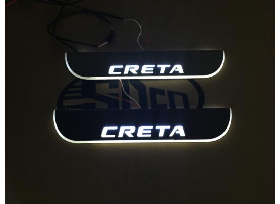 Накладки на пороги LED для Hyundai Creta (фото)