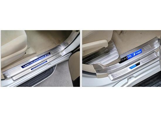 Накладки на пороги для Toyota Land Cruiser Prado 2009- по н.в. (фото)