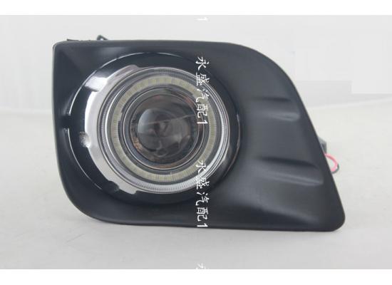 Противотуманные фары с ангельскими глазками для Toyota Prado 150 2009-13