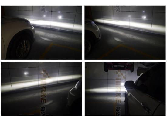 Светодиодные противотуманные фары с ДХО для Renault косое стекло