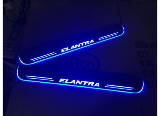 Накладки на пороги LED для Hyundai Elantra