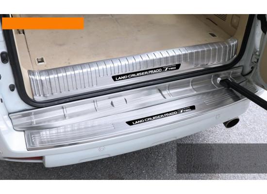 Накладки на задний бампер для Toyota Land Cruiser Prado 2009- по н.в. (фото)