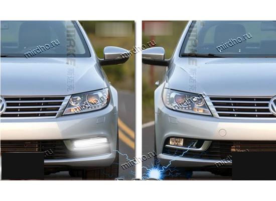 ДХО для Volkswagen Passat СС Рестаилинг 2011-по н.в, вместо ПТФ (фото)