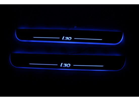 Накладки на пороги LED для Hyundai I30 (фото)
