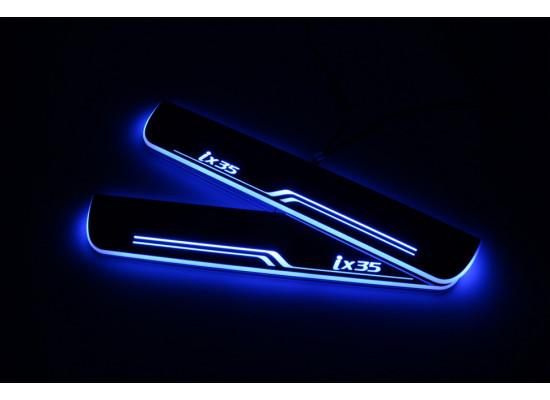Накладки на пороги LED для Hyundai IX35 (фото)
