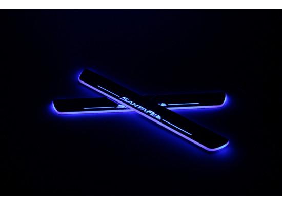 Накладки на пороги LED для Hyundai Santa Fe (фото)