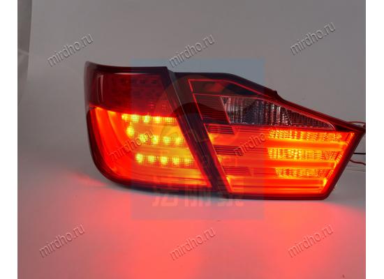 Задние фонари на Toyota Camry 7 2011-14 в стиле БМВ 7 вариант 2 (фото)