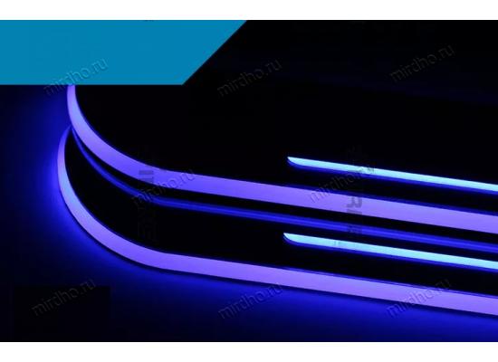 Накладки на пороги LED для Nissan X-TRAIL 2014 (фото)