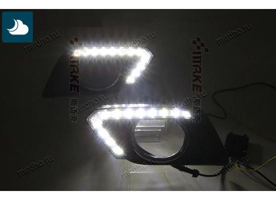 ДХО на Nissan X-TRAIL Т32 2013- по н.в. (дорестайлинг) Ниссан Х Трейл Вариант 1 (фото)