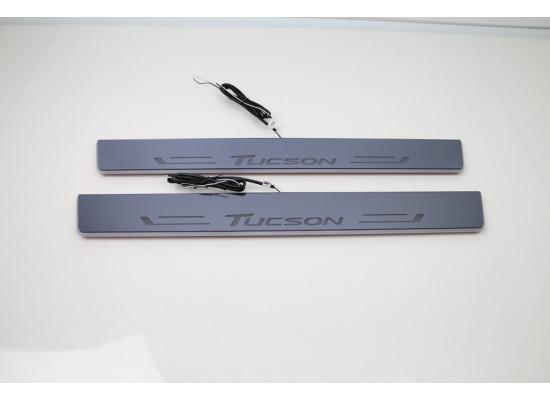 Накладки на пороги LED для Hyundai Tucson (фото)