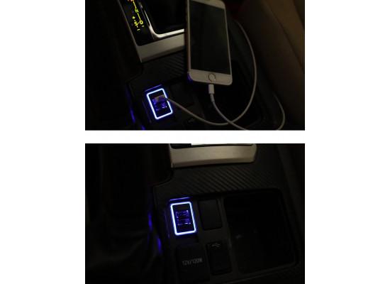 USB зарядка в штатное место для Toyota Land Cruiser Prado 2009-17 (не для 2-го рестайлинга) (фото)
