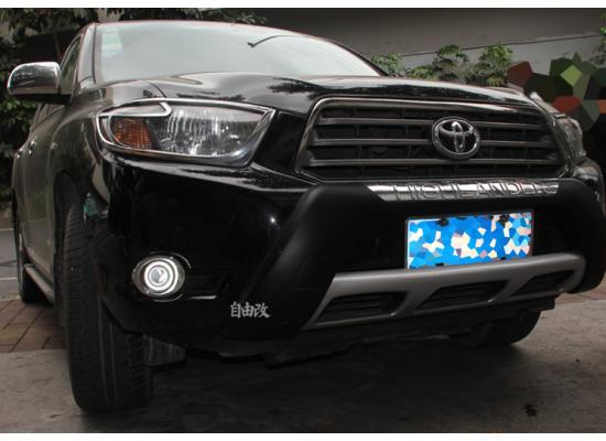 Противотуманные фары с ангельскими глазками для Toyota Highlander 2 2007-10
