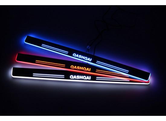 Накладки на пороги LED для Nissan Qashqai (фото)